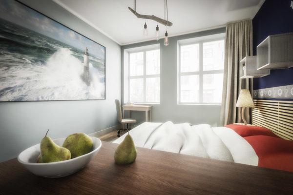 Projekt sypialni Desi-Studio Architektura